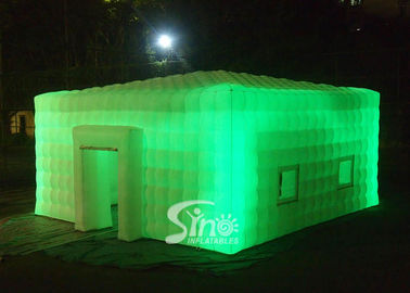 China 8x8 meters outdoor giant led light inflatable cube tent for parties or events etc supplier