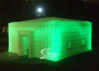 8x8 meters outdoor giant led light inflatable cube tent for parties or events etc