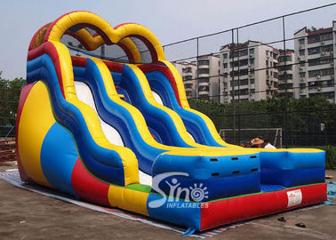 18 ft high adults colorful double lane inflatable slide for outdoor enterainment
