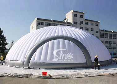 China 200 persons 18 meters round giant white inflatable dome tent with removable doors supplier