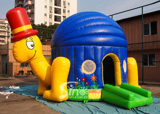 China Commercial grade kids big turtle inflatable bouncer made of 0.55mm pvc tarpaulin supplier