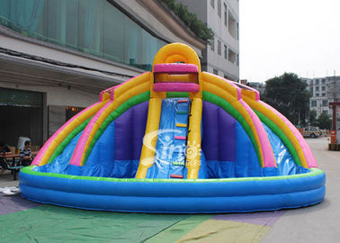 China 21x21' kids banzai large inflatable water pool slide made of lead free pvc tarpaulin with EN14960 certified supplier