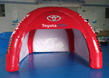 China 4x4m outdoor Toyota movable airtight inflatable advertising tent digitally printed completely with 4 sides doors supplier