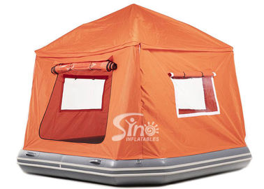 China 8'x8' enclosed airtight inflatable floating tent made of drop stitch material for water camping supplier