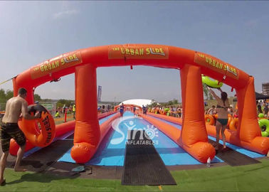 1000 ft commercial use outdoor double lane inflatable water slide N slip on sale for water parties fun