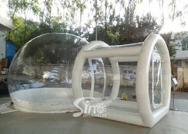 Outdoor transparent inflatable camping bubble tent with frame tunnel entrance