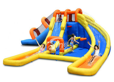 China Kids water inflatable jumping castle slide with 3 lanes made of lead free pvc tarpaulin from Sino Infatablel supplier