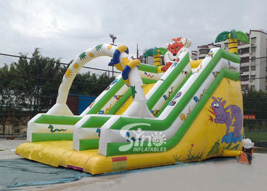 6 meters high commercial grade kids jungle inflatable slide for sale