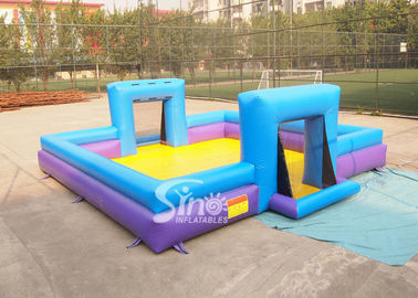 Customized inflatable soap soccer field for outdoor interactive games