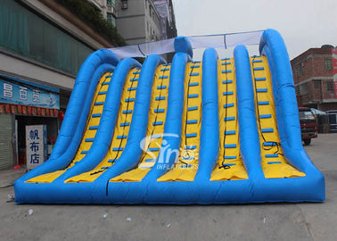 China Hit and Run 6 lanes giant inflatable adult slide for outdoor mud run adventure supplier
