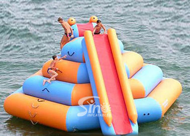 China Double lane slide inflatable water tower sport game with 0.9mm pvc tarpaulin supplier
