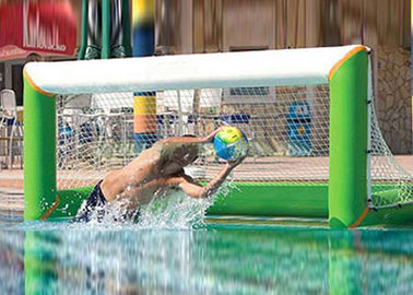 Heat welding adults inflatable water polo goal with lead free 1000D pvc tarpaulin