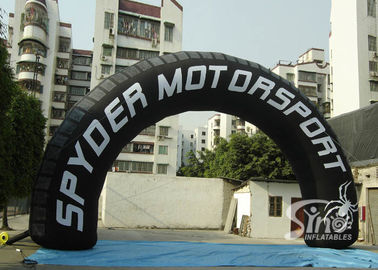 Newest big outdoor black advertising inflatable arch