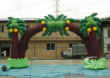 New tropical coconut tree advertising inflatable arch for sale