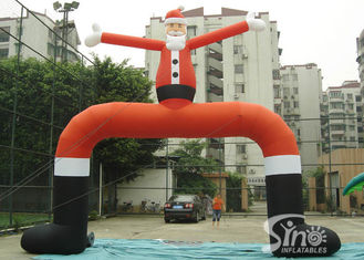 China Outdoor big Christmas Santa Claus advertising inflatable arch for activities supplier