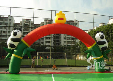 Newest hot sale panda advertising inflatable arch for outdoor use
