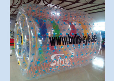 Bulls eye PVC and TPU inflatable water roller with removable tubes for pool parties