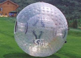 China 2.6m dia. transparent human roll inside inflatable zorb ball for outdoor adventure supplier