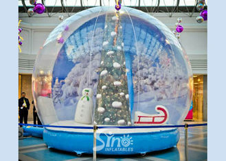 China 3 meters transparent human giant inflatable Christmas snow globe for festival shows and decoration supplier