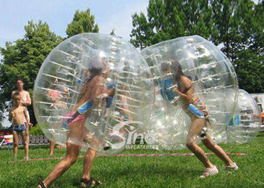 China Kids N adults transparent outdoor inflatable bumper ball made of PVC or TPU lead free material supplier
