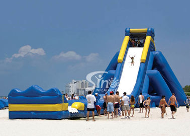 10m high commercial giant hippo inflatable water slide for adults with pool ended for beach water park