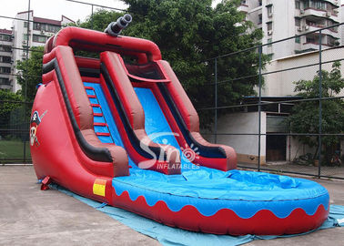 China 17 inch High Outdoor Commercial Pirate Theme Inflatable Water Slides For Parties supplier
