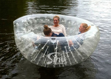 China 3 Persons Bowl shape pool N river transparent inflatable floating sofa for kids N adults outdoor supplier