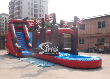 China Commercial giant pirate ship inflatable water slide with slip n slide for adults outdoor water park supplier