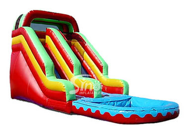 China Red Commercial Grade Inflatable Bounce House Water Slide for Residential supplier
