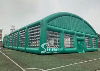 37x19m big sports arena air sealed inflatable tent with transparent windows N removable doors