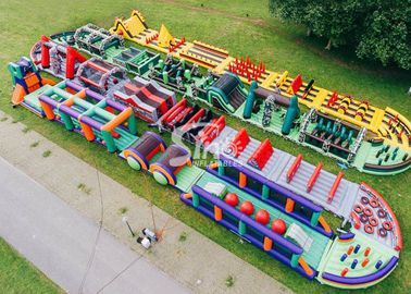 185 Meters Long Big Adults Inflatable Obstacle Course Course From Guangzhou Inflatables Factory