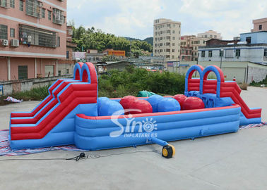 China Outdoor Double Lane Adults Wipeout Inflatable Big Baller For Inflatable Assault Course From Sino Inflatables supplier