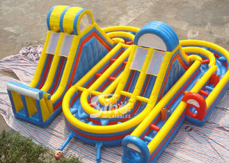 China Outdoor commercial kids giant obstacle course inflatable playground for fun supplier