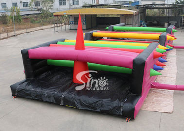 16x6m Crazy Tangled Up Adults Inflatable Obstacle Course For Outdoor Sports Events