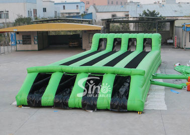 15x6m Kids N Adults Interactive Inflatable Tunnel Obstacle Course With 4 Lanes Used For Outdoor Sports N Events