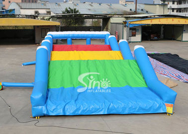 China 15x6m 6 Lane Vertical Rush Slide Adults Inflatable Obstacle Course For Outoor Mud Or Color Run supplier