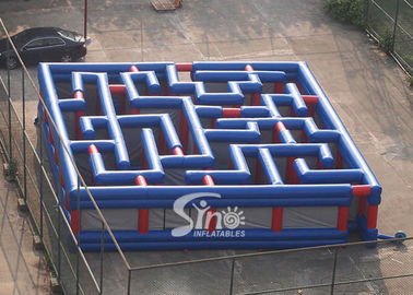 China Custom Made Giant Outdoor Amusing Inflatable Maze For Kids N Adults Challenge Activities supplier