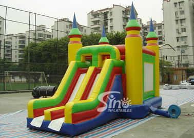China Bright Colored Small Inflatable Bouncy Castles With Slide  for Children supplier