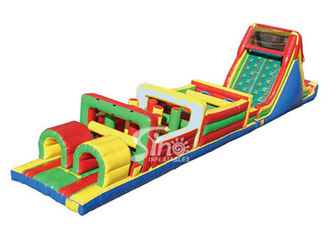 China Outdoor Kids Inflatable Obstacle Course With Pvc Tarpaulin CE Or UL Certificated supplier