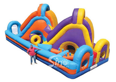 China Giant Double Lane Slide Kids Inflatable Obstacle Course For Outdoor supplier