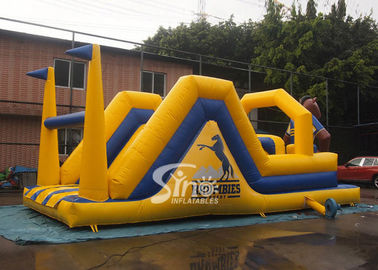 Outdoor 12 mts Long Children Brumbies Ruby Inflatable Obstacle Course Made Of Best Pvc Tarpaulin From Sino Inflatables