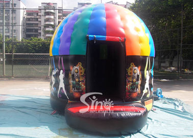 China Kids N Adults Inflatable Music Disco Dome Bouncy Castle With Light Hooks On Top For Outdoor N Indoor Parties supplier