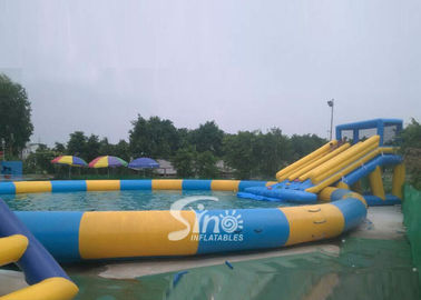 15m Dia. Pool Kids N Adults Big Inflatable Water Park On Land For Outdoor Rental Business
