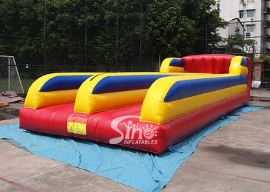 10m Long Double Lane Kids N Adults Inflatable Bungee Run For Interactive