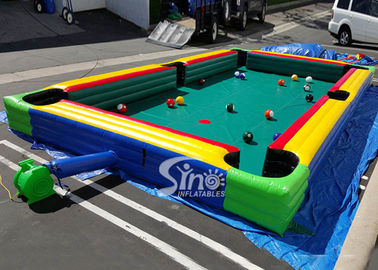 China Giant Human Inflatable Snooker Pool Table With Snooker Balls For Snooker Football Entertainment supplier