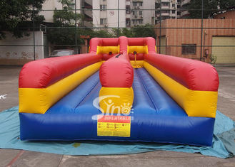 China 10m long kids N adults inflatable bungee run for indoor or outdoor 2 person interactives supplier