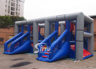 Outdoor Hit And Run Adults Balance Inflatable Obstacle Course With Slides from Sino Inflatables
