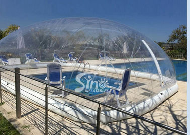 China Outdoor complete clear inflatable pool cover used for air tent for hotels or family gardens supplier