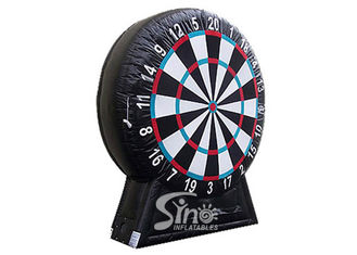 China Giant Inflatable Soccer Dart Board With Stand Made With Pvc Tarpaulin Material supplier