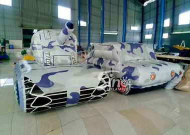 China Outdoor Laser Tag Equipments Inflatable Tank Inflatable Army Commercial Use for outdoor inflatable paintball field supplier